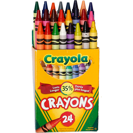 crayola wax crayons 24 pack start right supplies